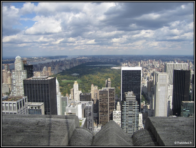 New-York City Vue de Central Park tower Rockfeller Center