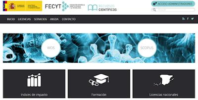 Portal de recursos científicos de FECYT