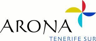 Contenido escrito del logotipo: Arona, Tenerife Sur.