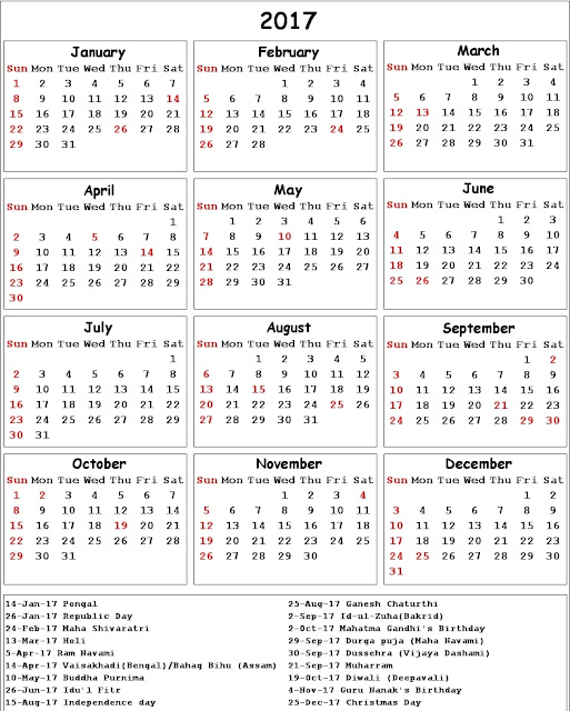 "Printable Calendar January 2017 ""Professional"" (professional-en-1701 ..."