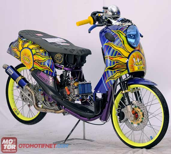 mio modifikasi racing simple  tahun ini