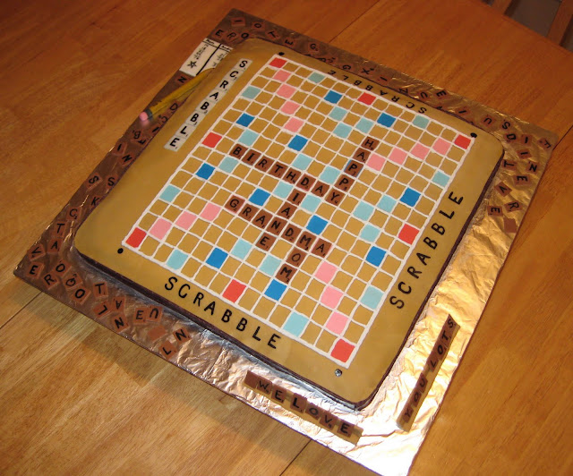 3D Scrabble Board Game Cake 1
