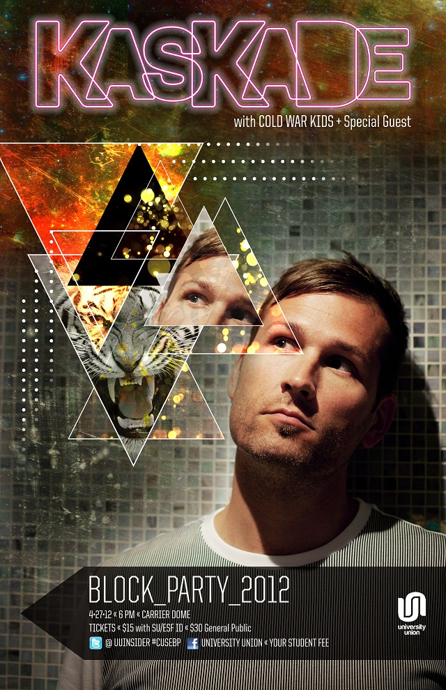 Kaskade VTT Giveaway full Ticket Giveaway!   Kaskade @ SUs Block Party   Friday 4/27