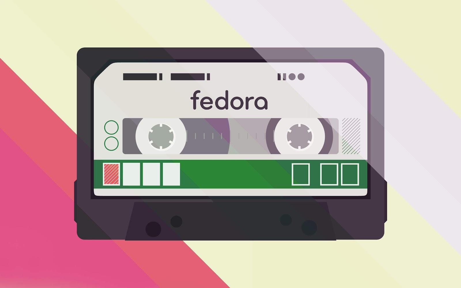 HD Fedora My Cassette Player Design Wallpaper