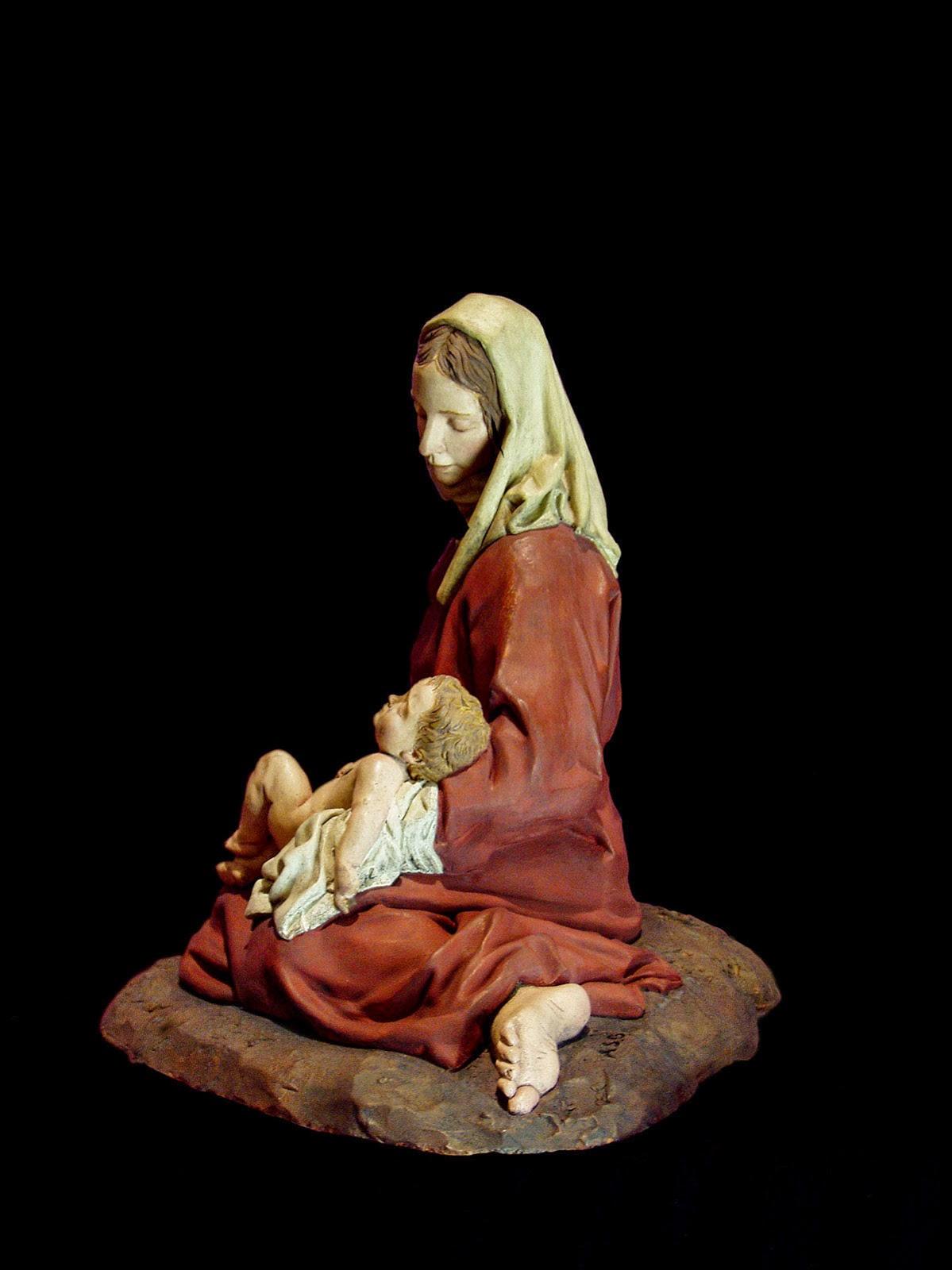 Nacimiento Belén Nativity krippe presepe Arturo Serra Gómez Barro cocido 4