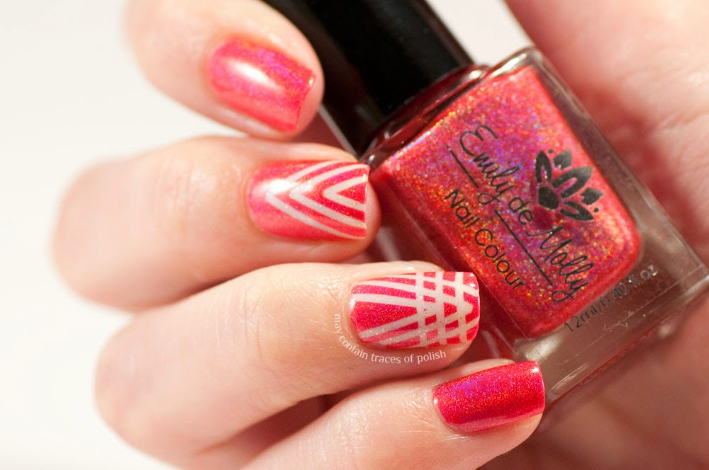 Emily De Molly Seeing Red Art Deco Nail Art May Contain Traces Of