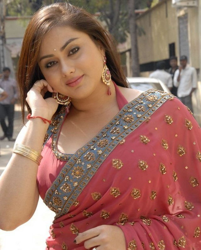 Actress Namitha Stills in Saree  stills