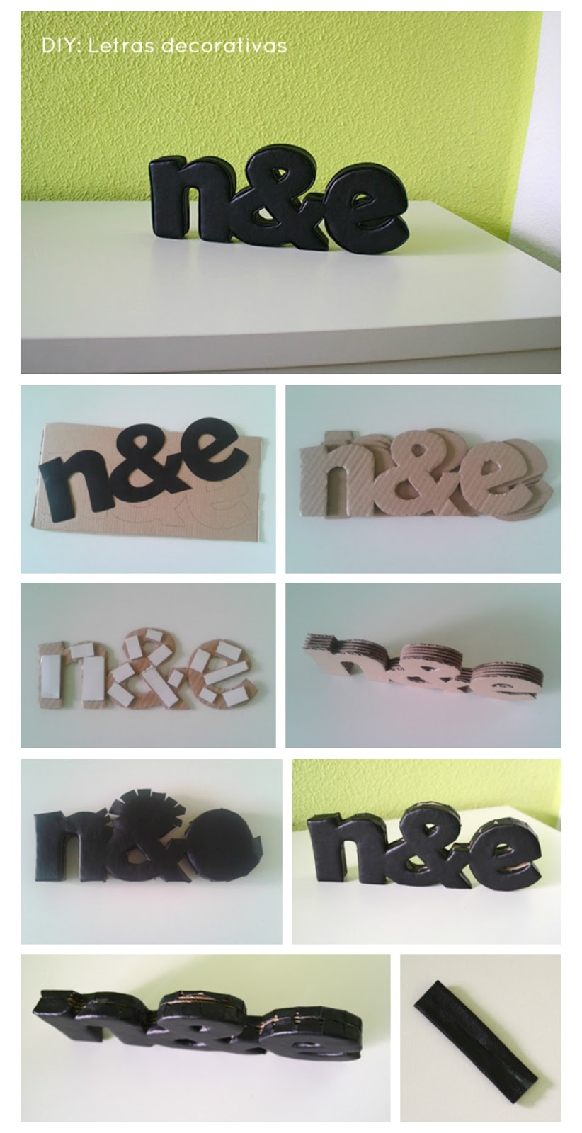 C mo hacer letras decorativas con cart n - Como hacer letras decorativas ...