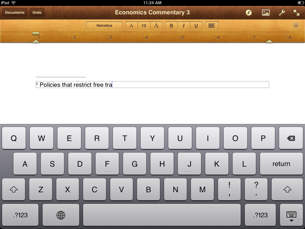 Can you write essays on ipad