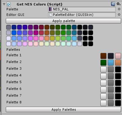 NES palette generator in Unity