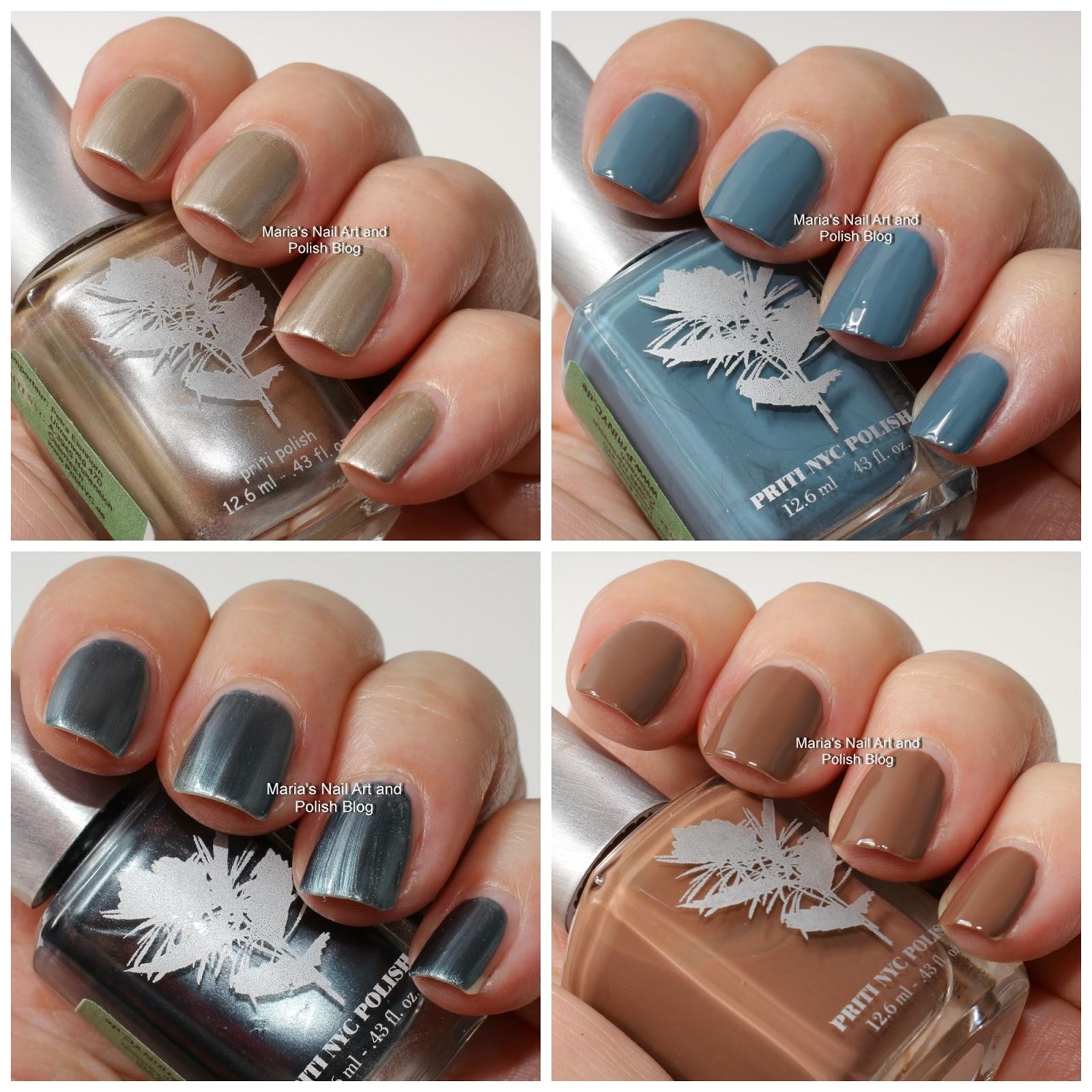 Nyc Metallic Nail Polish: Marias Nail Art And Polish Blog: Priti Nyc Swatches: St
