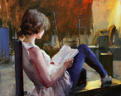 Best Sketches Oil Paintings Break In Studio Series by Fongwei