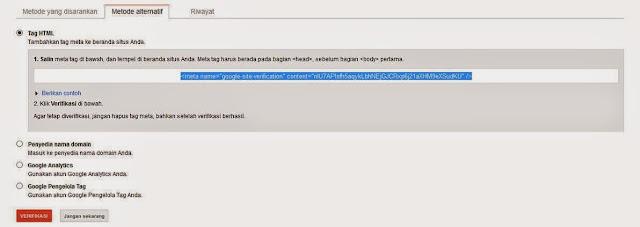 Cara Daftarkan Blog Ke Google Webmaster