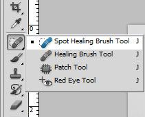 Spot Healing Brush Tool hilangkan benda dalam gambar