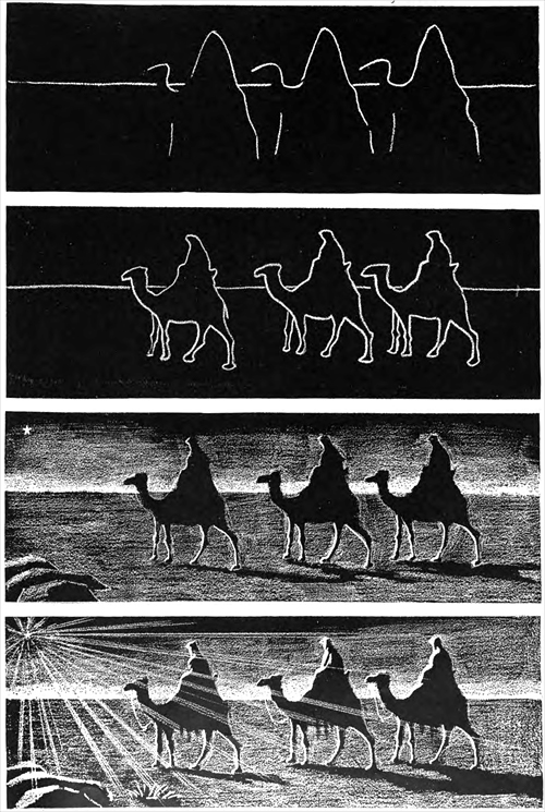 The three wise men: a progressive picture