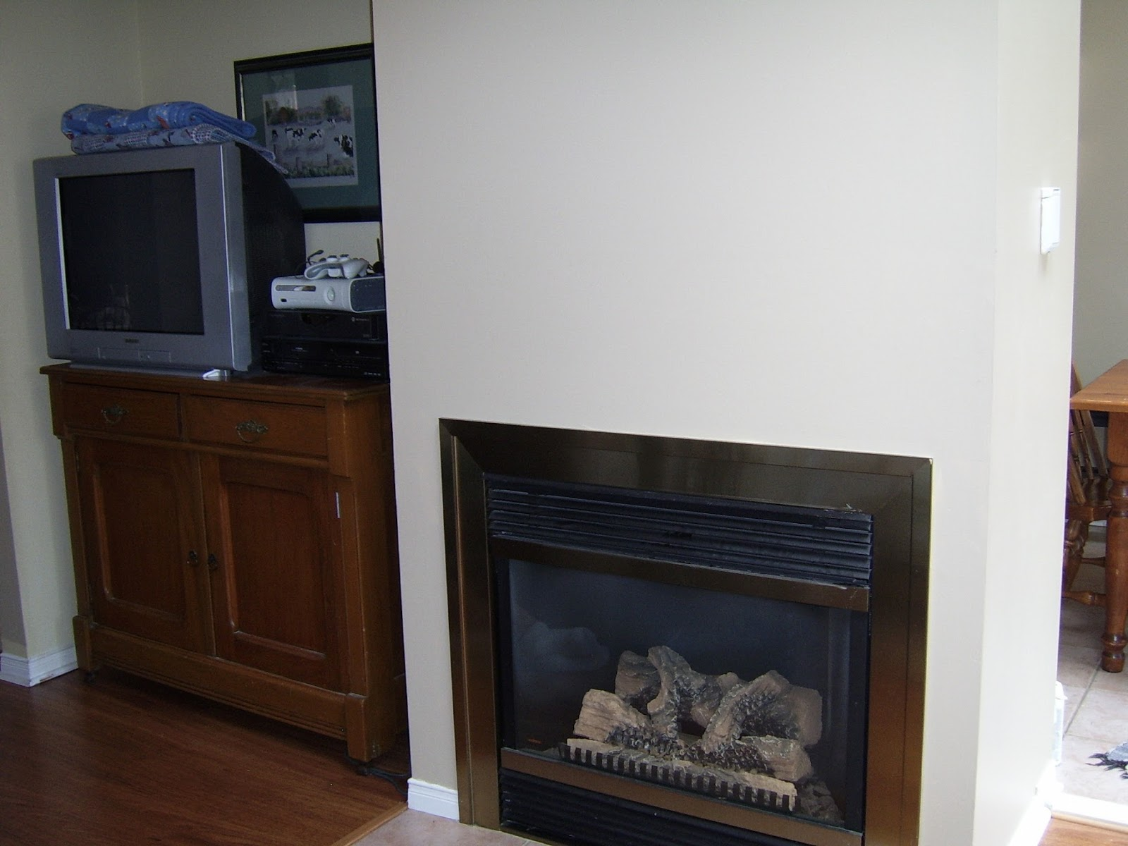 rustic maple diy board and batten fireplace wall with faux beam