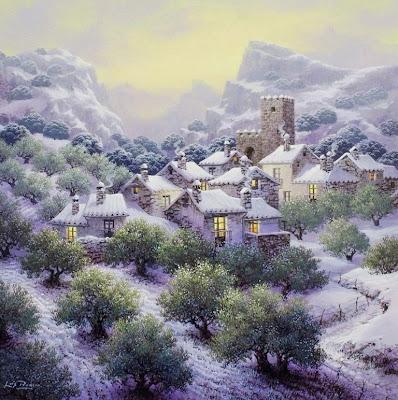 paisaje-con-nieve-al-oleo