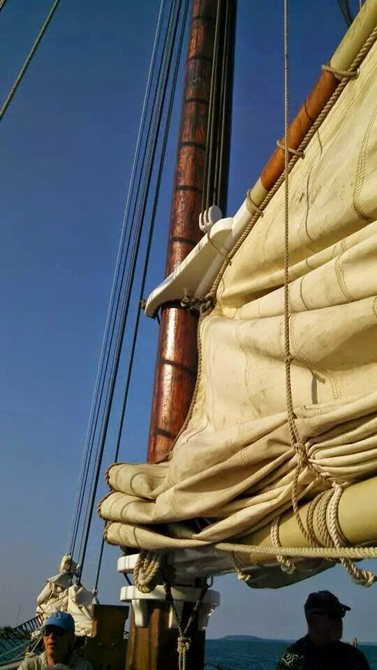 Tall Ship Manitou - Lake Michigan - Grand Traverse Bay - Sailing - Rigging