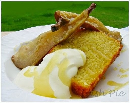 Olive Oil Cake with Roasted Pears / Olivenöl-Kuchen mit ...