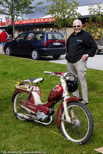 moped, mopedist, gammal crescent, crescentmoped, jämshög, olofström, blekinge, foto anders n