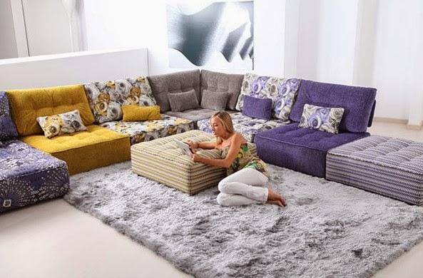 desain ruang keluarga lesehan sempit