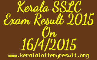 Kerala SSLC Exam Result 2015 on 16-4-2015