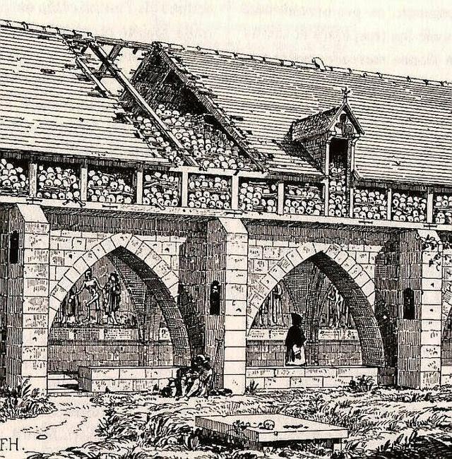 Charnier du cimetière des Saints Innocents à Paris