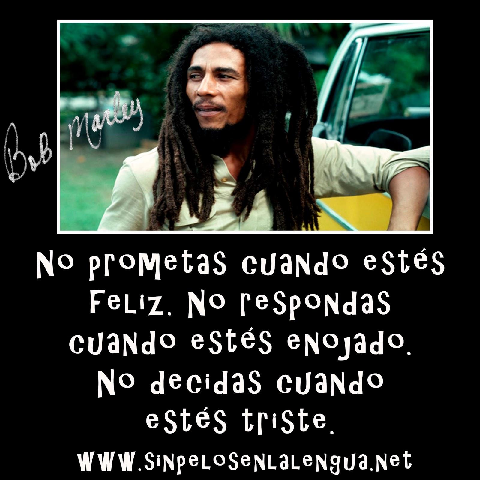 Frases De Bob Marley  Im  Genes De Bob Marley  Reflexiones De Bob