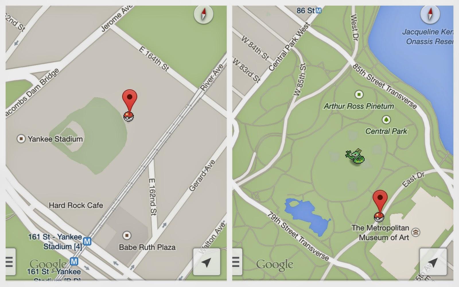 Pokémon Google Maps Aprilscherz 1.April 2014 lustig Online Gadgets Blog Flussperle Pokedex