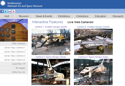 Smithsonian Air & Space Museum web cams