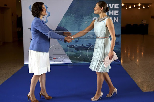 Crown Princess Victoria of Sweden met with the The President of the Portuguese Republic at the Presidential residence.