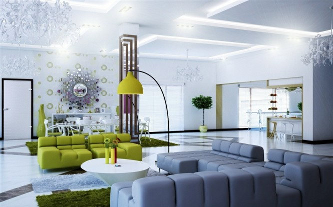 Diseño de interiores & arquitectura: de visa a su sala con tonos ...