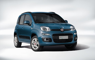 Nuova Fiat Panda Natural Power blu TwinAir