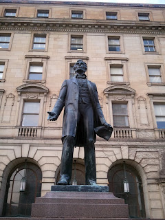Statue of Abe Lincoln on the Mall in Cleveland