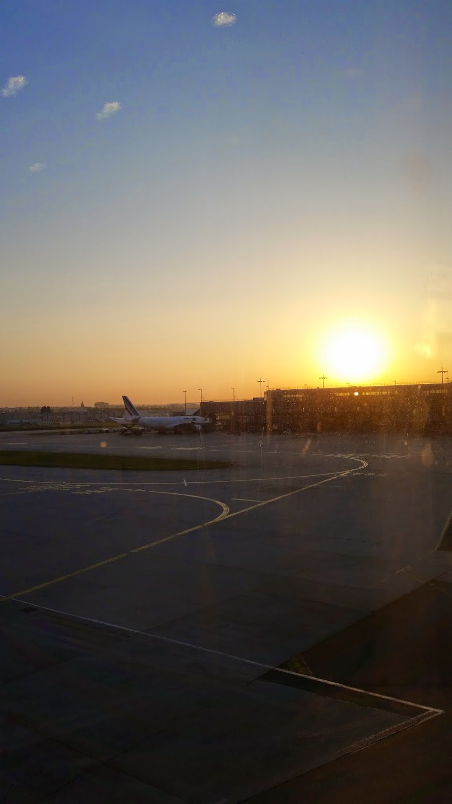 Sunrise at the airport