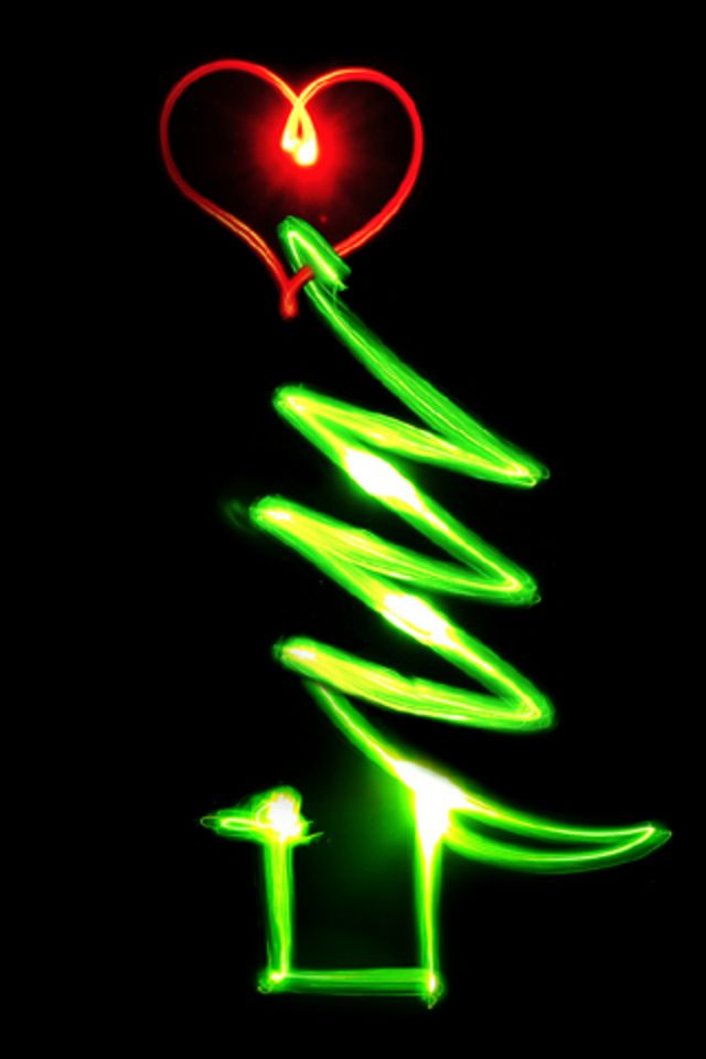 iphone christmas glow tree wallpaper 503 iphone