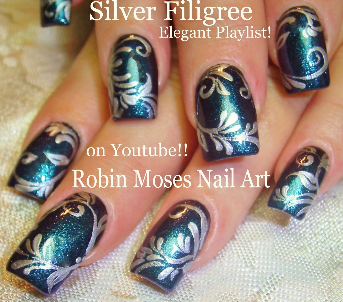 Robin moses nail art christmas nails christmas nail art pre nail art tutorials christmas nail art diy xmas nails easy holiday nail art for beginners and up prinsesfo Images