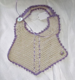 Handmade Baby Shower Gifts including this Heirloom Bib are available at HandmadeCatalog.com