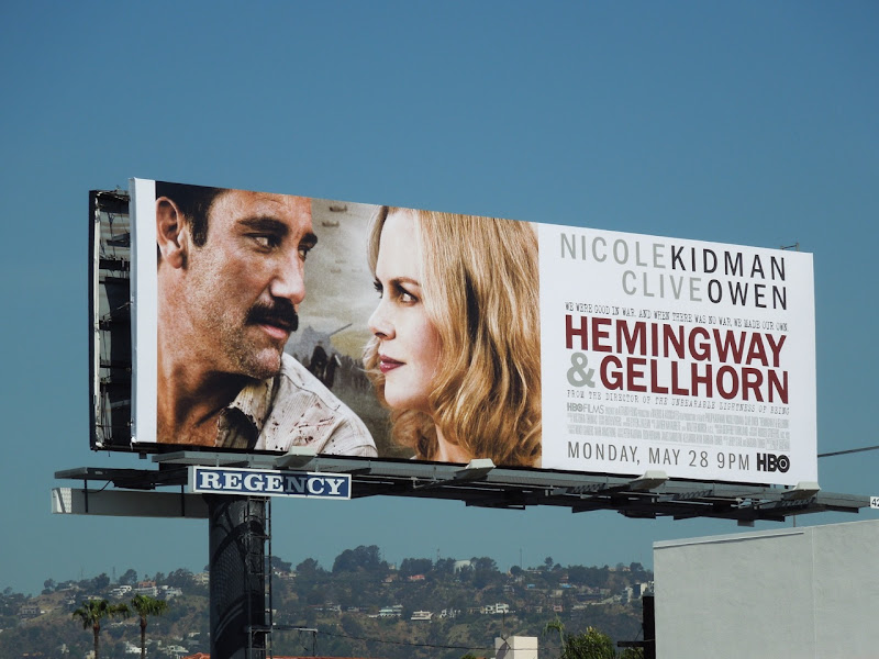 Hemingway Gellhorn movie billboard