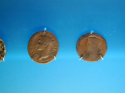 Monedas romanas en el Museo Oiasso de Irún