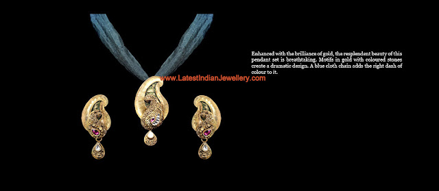 gold pendant set cloth chain