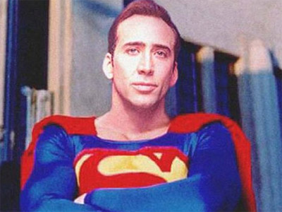 SUPERMAN SALVA A NICOLAS CAGE