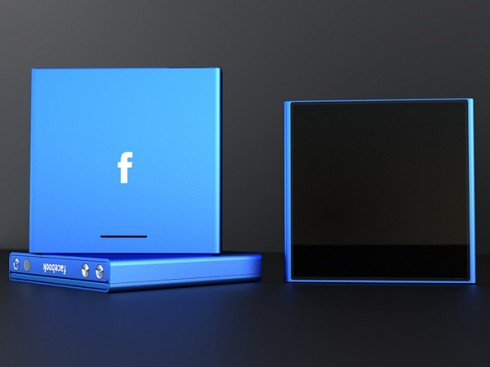 Design concept of new facebook phone