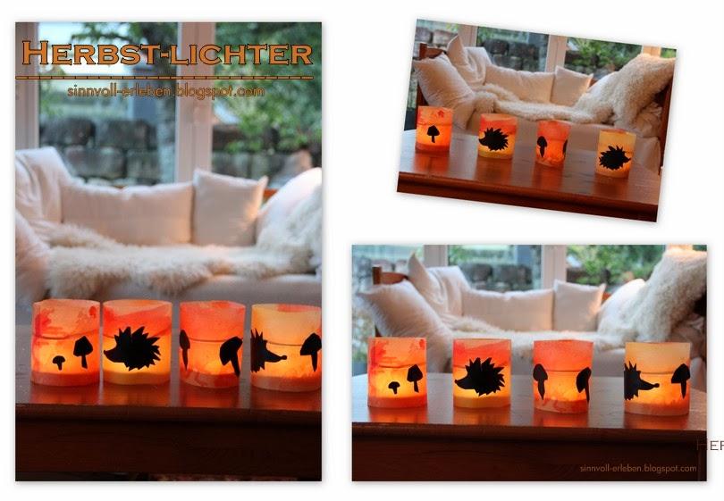 sinnvoll erleben sinnvoller leben herbstliche windlichter. Black Bedroom Furniture Sets. Home Design Ideas