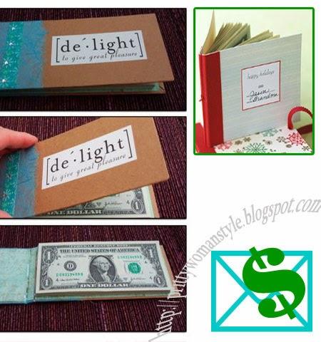 Идеи за подарък книга от пари за Коледа