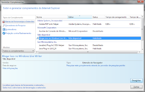 Complementos Internet Explorer 9