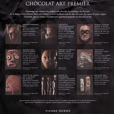 chocolate masks by Pierre Herme