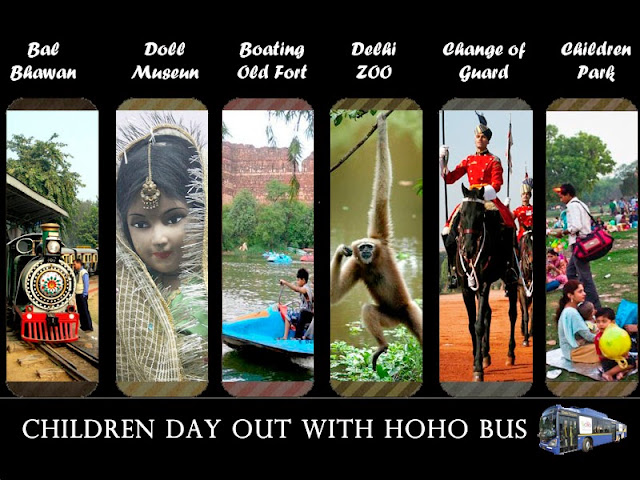 children day out with HOHO Bus