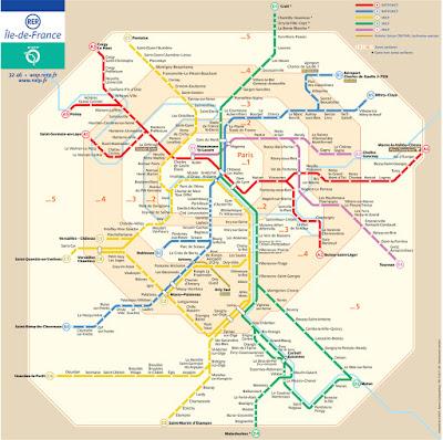 réseau rer IDF
