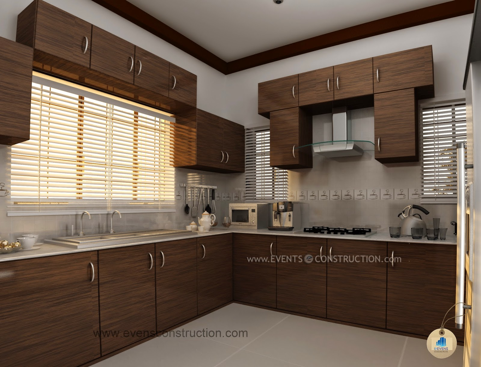 Evens construction pvt ltd july 2014 for Kitchen designs kerala